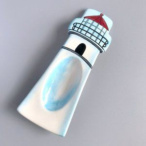 Lighthouse Blue Painted Spoon Rest